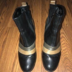 GABOR NORDSTROM BLACK BOOTS BLOCK HEEL SIZE 5